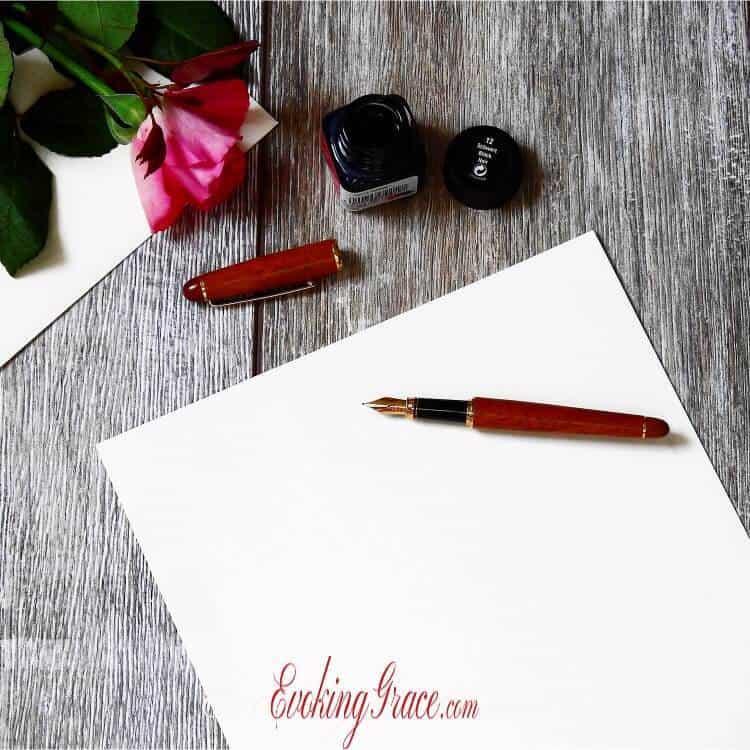 Fountain pen on desk